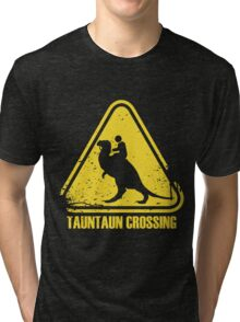 Beware! Tauntaun Crossing! Tri-blend T-Shirt