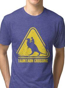 Beware! Tauntaun Crossing! Tri-blend T-Shirt