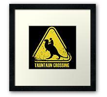 Beware! Tauntaun Crossing! Framed Print