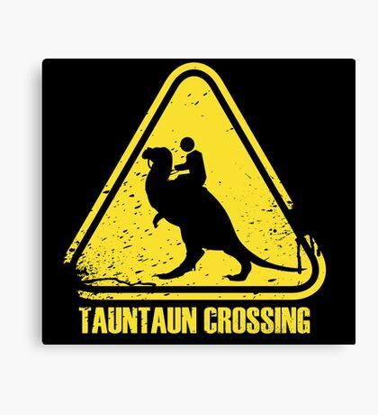 Beware! Tauntaun Crossing! Canvas Print