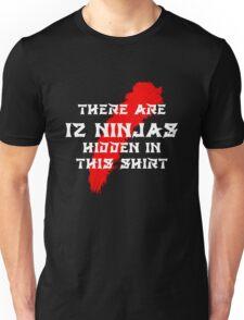12 Hidden Ninjas (Black) Unisex T-Shirt