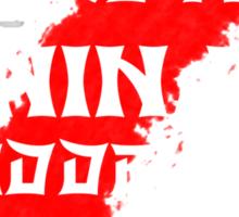 12 Hidden Ninjas (Black) Sticker