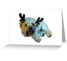 Funny Terrier Christmas Greeting Card