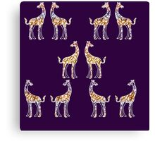 Reticulated Laughing Giraffe Canvas Print
