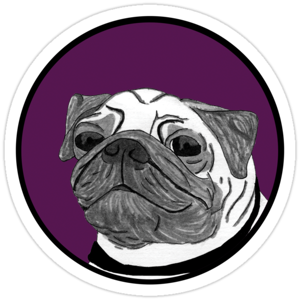 Pug - Purple Spot by emo-seal