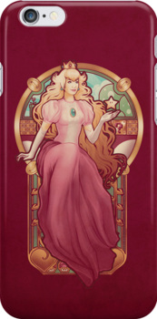 Princess Toadstool Nouveau - IPHONE CASE by MeganLara