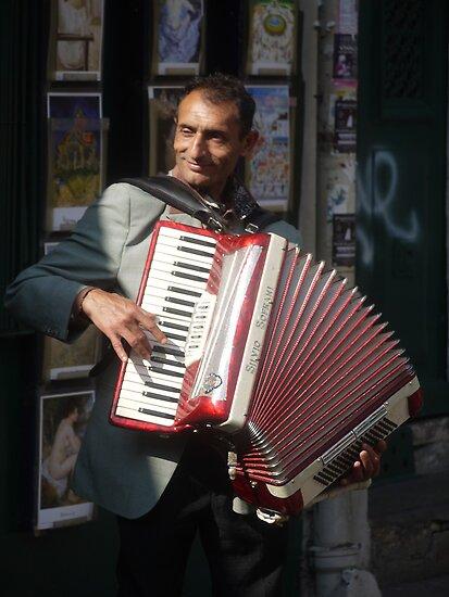A Montmartre Street Musician (1) by Larry Lingard-Davis