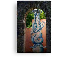 Môr-forwyn Portmeirion Mermaid Canvas Print