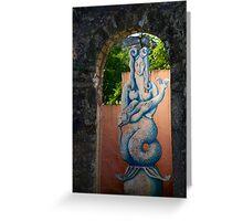 Môr-forwyn Portmeirion Mermaid Greeting Card
