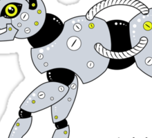 Feed Your Robot Cat (Yellow Eyes) Sticker