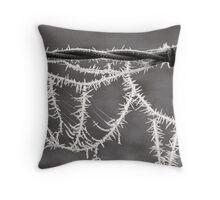 Frozen Spikes - Tongala - Victoria - Australia Throw Pillow