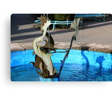Dolphin Wishing Well Canvas Print