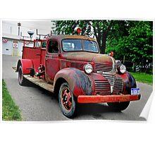 1940 Fire Truck Poster