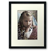 Sad Girl Framed Print