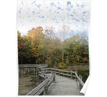 Bridge Into Autumn Poster