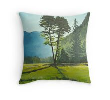Canadian sun Throw Pillow