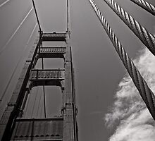 Suspended Transportation - Golden Gate Bridge - San Francisco - USA by Norman Repacholi