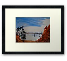 Hint Of Water - Gammon Ranges National Park - Australia Framed Print