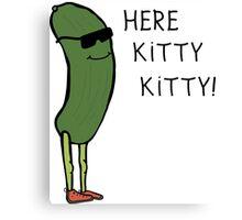 Cats VS Cucumbers Humor Canvas Print