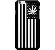 United States of Marijuana - Black & White iPhone Case/Skin