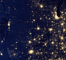 USA at Night from Space Sticker