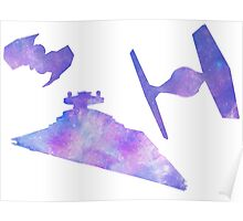 Star Wars Empire Ships Space design Poster