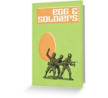 Egg & Soldiers Easter card Greeting Card