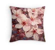 Spring Tree Blossoms Pink art prints Floral Throw Pillow