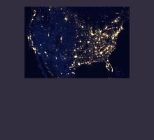 USA at Night from Space Unisex T-Shirt