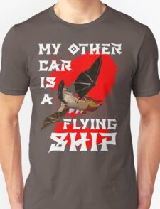 My Other Car is a Flying Ship (Black) T-Shirt