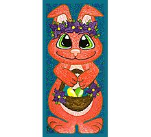 Miss Easter Bunny is here! Photographic Print