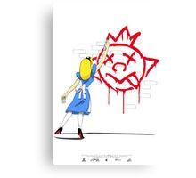 Alice Graffiti Canvas Print