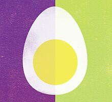Rusky Easter Card - Lime & Purple by rperrydesign