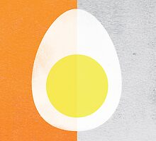 Rusky Easter Card - Orange & Grey by rperrydesign