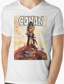 Conan Movie Poster Mens V-Neck T-Shirt
