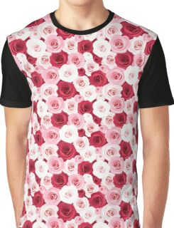 Stylish romantic trendy red pink roses floral Graphic T-Shirt