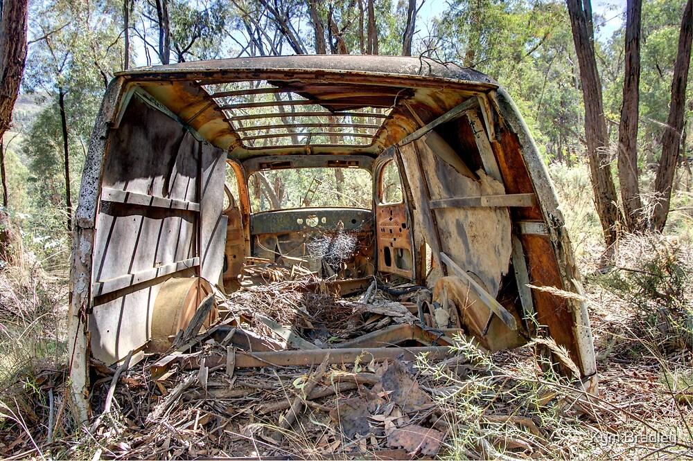 Rusty Old Bones,  Old Van deserted NSW Bush Australia  by Kym Bradley