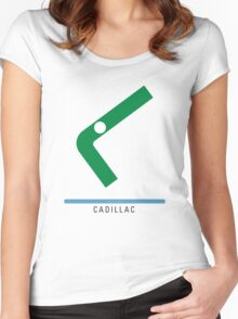 Station Cadillac Women's Fitted Scoop T-Shirt