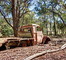 Times Up,  Old Rusty Truck  Rural NSW  by Kym Bradley