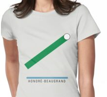 Station Honoré-Beaugrand Womens Fitted T-Shirt