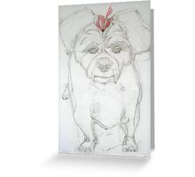 Here's Gracie Greeting Card