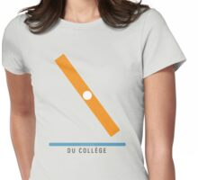 Station Du Collège Womens Fitted T-Shirt