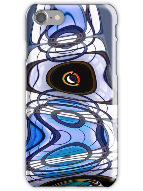 Native Blue iPhone Cover by Monika Wright
