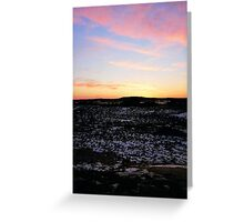 Plum Island, Sunset #3, January 2013 Greeting Card