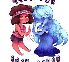 Ruby and Sapphire [Steven Universe] by AjaSama
