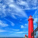 Grand Haven South Pierhead Lights by Owed To Nature