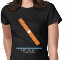 Station Côte-Sainte-Catherine Womens Fitted T-Shirt