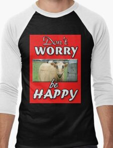 DON'T WORRY BE HAPPY Men's Baseball ¾ T-Shirt