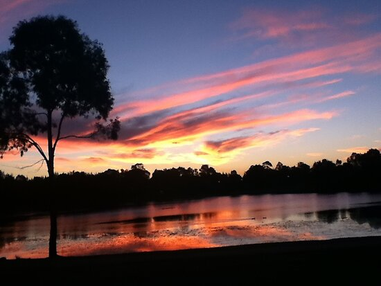 Sunset at the Lake by Vicki Childs