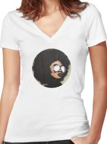 Venus Afro Women's Fitted V-Neck T-Shirt
